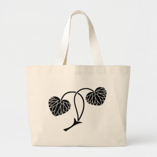 Two leaf mallows large tote bag