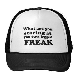 Two Legged Freak Trucker Hat