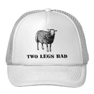 Two Legs Bad Sheep Trucker Hats