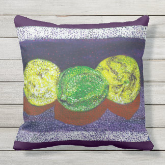 Two Lemons  And A Lime Designer Pillows