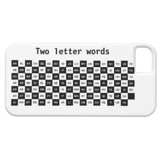 two letter words black and white Intl ver iPhone 5 Case