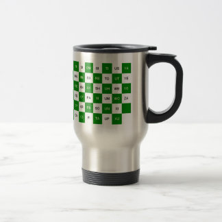 Two Letter Words  Green and white US version Travel Mug
