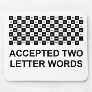 Two letter words mouse pad Int version