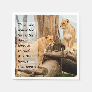 Two Lionesses Disposable Napkins