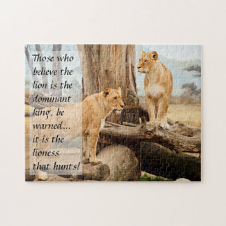 Two Lionesses Jigsaw Puzzle