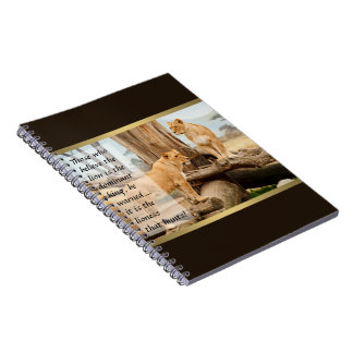 Two Lionesses Spiral Notebook