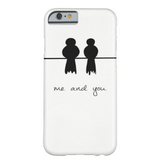 Two little birds sitting in a tree barely there iPhone 6 case