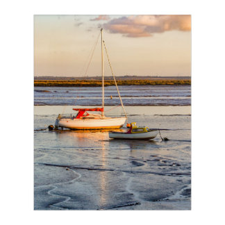 Two little boats acrylic print