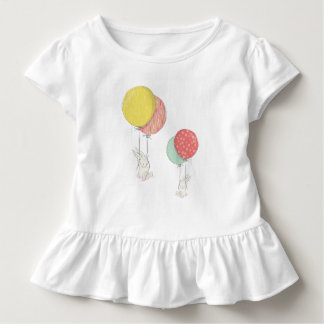 Two Little Bunnies Floating With Balloons Toddler T-shirt
