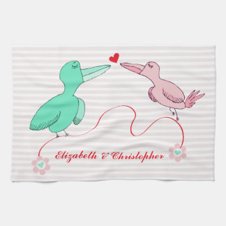 Two Little Lovebirds Kitchen Towel