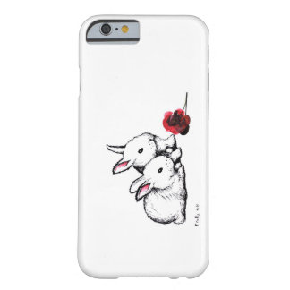 Two Little White Rabbits Barely There iPhone 6 Case