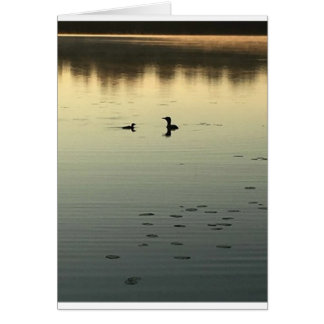 Two loons card