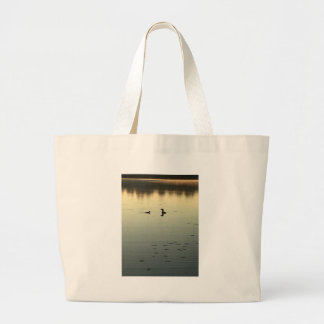 Two loons large tote bag