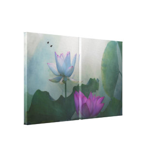Two:) Lotus Fairyland Photographic Art -3 Canvas Print