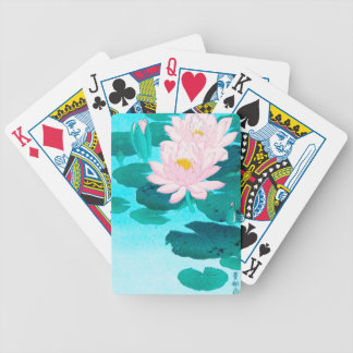 Two Lotus Flowers Bicycle Playing Cards