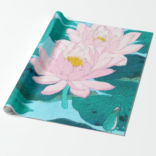 Two Lotus Flowers Wrapping Paper