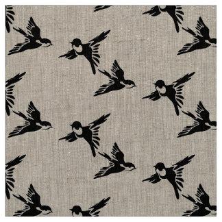 Two love birds fabric linen
