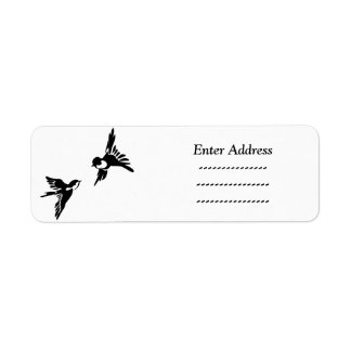 Two love birds return address label