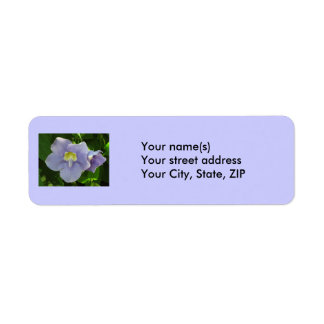Two lovely blue flowers return address label