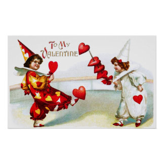 Two Lovely Harlequins Poster