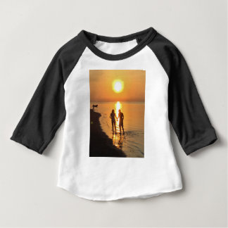 Two lovers at sunrise baby T-Shirt