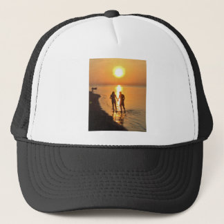 Two lovers at sunrise trucker hat