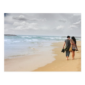 two lovers on the beach postcard