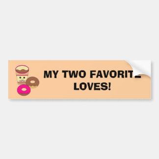 Two Loves Bumper Sticker