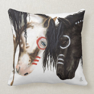 Two Majestic Horses Pillow by Bihrle