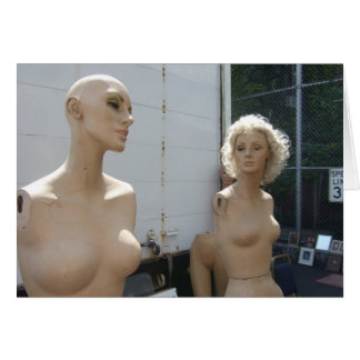 Two Mannequins 5x7 Card