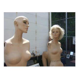 Two Mannequins Postcard