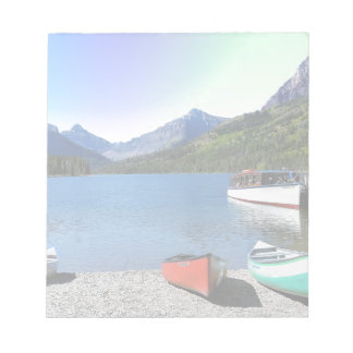 Two Medicine lake Glacier National Park Montana Notepads