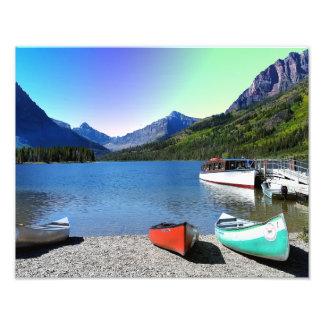 Two Medicine lake Glacier National Park Montana Photo Print