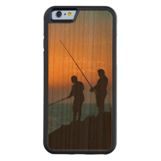Two Men Fishing at Shore Cherry iPhone 6 Bumper Case
