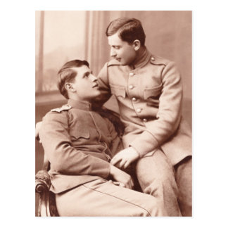 Two Men Postcard
