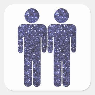 Two Men Square Sticker