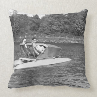 Two Men Throw Pillow