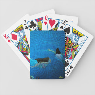 Two Mermaids Swimming Bicycle Playing Cards