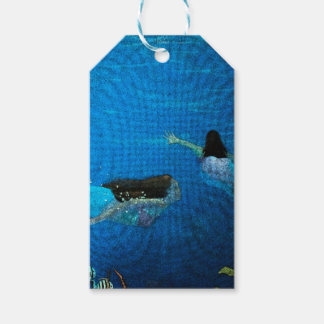 Two Mermaids Swimming Gift Tags