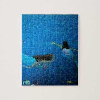 Two Mermaids Swimming Jigsaw Puzzle