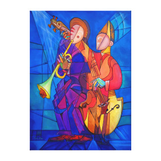 Two Musicians AT the Fair Canvas Print
