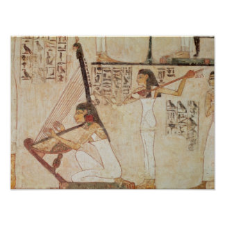 Two Musicians, from the Tomb of Rekhmire Poster