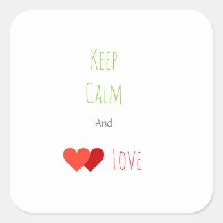 Two Network Hearts Square Sticker