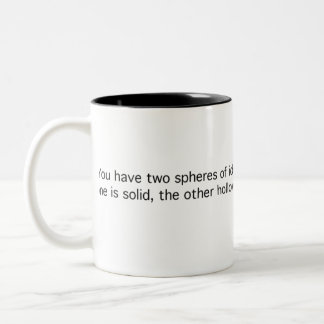 Two Nigh-Identical Spheres Two-Tone Coffee Mug