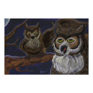 Two Night Owls Poster