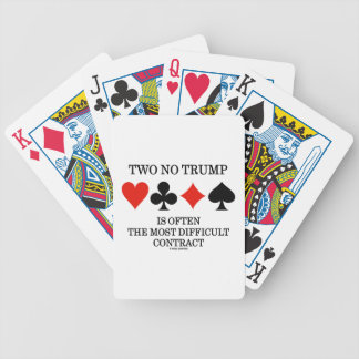 Two No Trump Is Often The Most Difficult Contract Bicycle Playing Cards