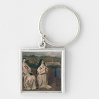 Two Nuns Keychain