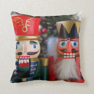 Two nutcrackers throw pillow
