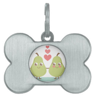 Two of a Pear Pet Name Tag