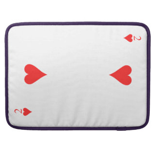 Two of Hearts MacBook Pro Sleeves